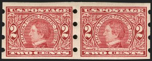 Sale Number 1197, Lot Number 1935, 1908-13 Washington-Franklin Issues (Scott 331-396)2c Alaska-Yukon, Imperforate, Brinkerhoff Ty. I Private Vending Machine Perforations (371), 2c Alaska-Yukon, Imperforate, Brinkerhoff Ty. I Private Vending Machine Perforations (371)