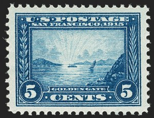Sale Number 1197, Lot Number 1946, 1913-15 Panama-Pacific Issue, DeBroff Finest Graded Set (Scott 397-404)5c Panama-Pacific (399), 5c Panama-Pacific (399)