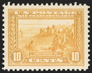 Sale Number 1197, Lot Number 1947, 1913-15 Panama-Pacific Issue, DeBroff Finest Graded Set (Scott 397-404)10c Orange Yellow, Panama-Pacific (400), 10c Orange Yellow, Panama-Pacific (400)
