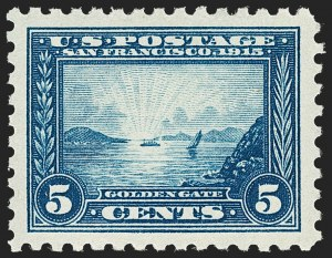 Sale Number 1197, Lot Number 1951, 1913-15 Panama-Pacific Issue, DeBroff Finest Graded Set (Scott 397-404)5c Panama-Pacific, Perf 10 (403), 5c Panama-Pacific, Perf 10 (403)