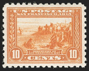Sale Number 1197, Lot Number 1954, 1913-15 Panama-Pacific, 1912-15 Issues (Scott 397-461)10c Panama-Pacific, Perf 10 (404), 10c Panama-Pacific, Perf 10 (404)