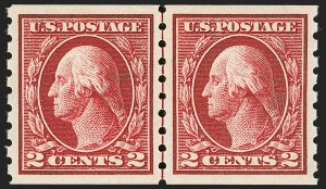 Sale Number 1197, Lot Number 1957, 1913-15 Panama-Pacific, 1912-15 Issues (Scott 397-461)2c Carmine, Coil (413), 2c Carmine, Coil (413)