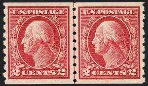 Sale Number 1197, Lot Number 1958, 1913-15 Panama-Pacific, 1912-15 Issues (Scott 397-461)2c Carmine, Coil (413), 2c Carmine, Coil (413)