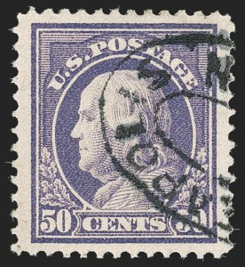Sale Number 1197, Lot Number 1961, 1913-15 Panama-Pacific, 1912-15 Issues (Scott 397-461)50c Violet (421), 50c Violet (421)