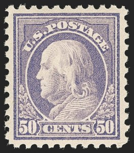 Sale Number 1197, Lot Number 1962, 1913-15 Panama-Pacific, 1912-15 Issues (Scott 397-461)50c Violet (440), 50c Violet (440)