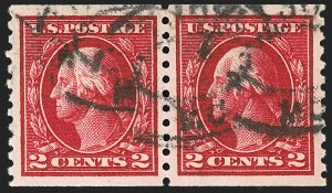 Sale Number 1197, Lot Number 1966, 1913-15 Panama-Pacific, 1912-15 Issues (Scott 397-461)2c Carmine, Coil (444), 2c Carmine, Coil (444)