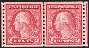 Sale Number 1197, Lot Number 1976, 1913-15 Panama-Pacific, 1912-15 Issues (Scott 397-461)2c Red, Ty. II, Coil (454), 2c Red, Ty. II, Coil (454)