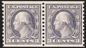 Sale Number 1197, Lot Number 1978, 1913-15 Panama-Pacific, 1912-15 Issues (Scott 397-461)3c Violet, Coil (456), 3c Violet, Coil (456)
