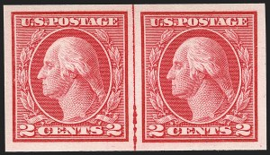 Sale Number 1197, Lot Number 1979, 1913-15 Panama-Pacific, 1912-15 Issues (Scott 397-461)2c Carmine, Ty. I, Imperforate Coil (459), 2c Carmine, Ty. I, Imperforate Coil (459)