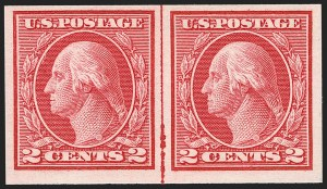 Sale Number 1197, Lot Number 1980, 1913-15 Panama-Pacific, 1912-15 Issues (Scott 397-461)2c Carmine, Ty. I, Imperforate Coil (459), 2c Carmine, Ty. I, Imperforate Coil (459)