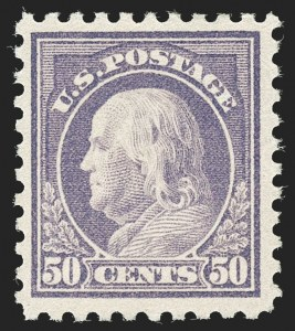 Sale Number 1197, Lot Number 1985, 1916-22 Issues (Scott 462-497)50c Light Violet (477), 50c Light Violet (477)