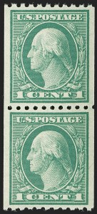 Sale Number 1197, Lot Number 1987, 1916-22 Issues (Scott 462-497)1c Green, Coil (486), 1c Green, Coil (486)