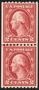 Sale Number 1197, Lot Number 1992, 1916-22 Issues (Scott 462-497)2c Carmine, Ty. III, Coil (488), 2c Carmine, Ty. III, Coil (488)