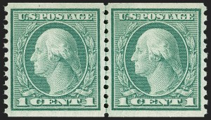 Sale Number 1197, Lot Number 1996, 1916-22 Issues (Scott 462-497)1c Green, Coil (490), 1c Green, Coil (490)