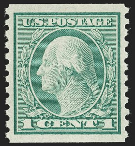 Sale Number 1197, Lot Number 1997, 1916-22 Issues (Scott 462-497)1c Green, Coil (490), 1c Green, Coil (490)