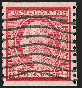 Sale Number 1197, Lot Number 2000, 1916-22 Issues (Scott 462-497)2c Carmine, Ty. II, Coil (491), 2c Carmine, Ty. II, Coil (491)