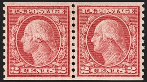 Sale Number 1197, Lot Number 2001, 1916-22 Issues (Scott 462-497)2c Carmine, Ty. III, Coil (492), 2c Carmine, Ty. III, Coil (492)