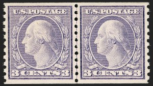Sale Number 1197, Lot Number 2005, 1916-22 Issues (Scott 462-497)3c Violet, Ty. II, Coil (494), 3c Violet, Ty. II, Coil (494)
