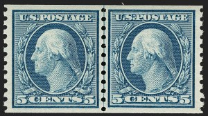 Sale Number 1197, Lot Number 2010, 1916-22 Issues (Scott 462-497)5c Blue, Coil (496), 5c Blue, Coil (496)