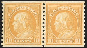 Sale Number 1197, Lot Number 2013, 1916-22 Issues (Scott 462-497)1c-10c 1916-22 Rotary Press Coils (486-490, 493, 495-497), 1c-10c 1916-22 Rotary Press Coils (486-490, 493, 495-497)