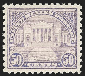 Sale Number 1197, Lot Number 2042, 1922-29 Issues (Scott 551-621)50c Lilac (570), 50c Lilac (570)