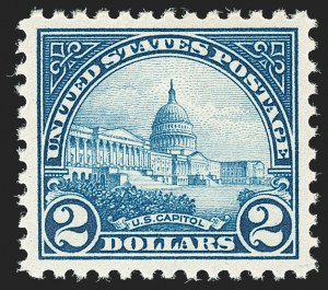 Sale Number 1197, Lot Number 2044, 1922-29 Issues (Scott 551-621)$2.00 Deep Blue (572), $2.00 Deep Blue (572)