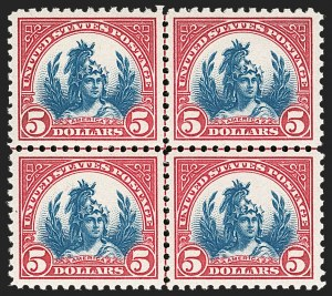 Sale Number 1197, Lot Number 2048, 1922-29 Issues (Scott 551-621)$5.00 Carmine & Blue (573), $5.00 Carmine & Blue (573)