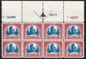 Sale Number 1197, Lot Number 2050, 1922-29 Issues (Scott 551-621)$5.00 Carmine Lake & Dark Blue (573a), $5.00 Carmine Lake & Dark Blue (573a)