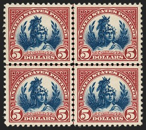 Sale Number 1197, Lot Number 2051, 1922-29 Issues (Scott 551-621)$5.00 Carmine Lake & Dark Blue (573a), $5.00 Carmine Lake & Dark Blue (573a)