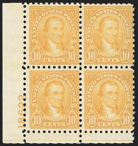 Sale Number 1197, Lot Number 2052, 1922-29 Issues (Scott 551-621)1c-10c 1923-26 Issue, Perf 10 (581-591), 1c-10c 1923-26 Issue, Perf 10 (581-591)