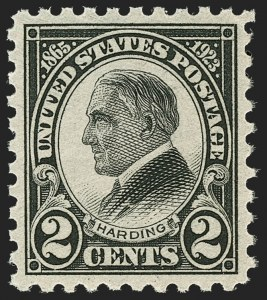 Sale Number 1197, Lot Number 2058, 1922-29 Issues (Scott 551-621)2c Harding, Rotary, Perf 10 (612), 2c Harding, Rotary, Perf 10 (612)
