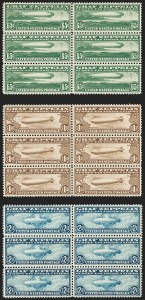 Sale Number 1197, Lot Number 2099, Air Post65c-$2.60 Graf Zeppelin (C13-C15), 65c-$2.60 Graf Zeppelin (C13-C15)