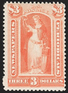 Sale Number 1197, Lot Number 2151, Officials, Newspapers & Periodicals, Parcel Post$3.00 Scarlet, 1894 Issue (PR100), $3.00 Scarlet, 1894 Issue (PR100)