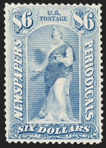 Sale Number 1197, Lot Number 2152, Officials, Newspapers & Periodicals, Parcel Post$6.00 Pale Blue, 1894 Issue (PR101), $6.00 Pale Blue, 1894 Issue (PR101)