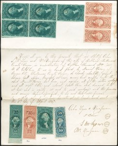 Sale Number 1197, Lot Number 2162, Revenues: First Issue$3.00 Manifest, Imperforate (R86a), $3.00 Manifest, Imperforate (R86a)