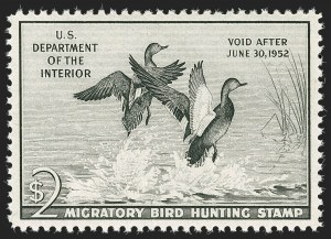 Sale Number 1197, Lot Number 2244, Hunting Permits$2.00 1951 Hunting Permit (RW18), $2.00 1951 Hunting Permit (RW18)