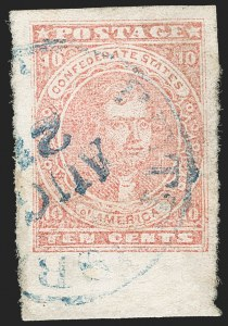 Sale Number 1197, Lot Number 2250, Confederate States10c Rose (5), 10c Rose (5)