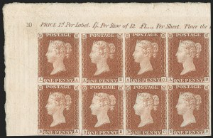 "Sale Number 1198, Lot Number 3001, Line Engraved IssuesGREAT BRITAIN, 1840, 1p Red Brown, Printed From ""Black Plate"" (SG Specialised AS69; SG 7; Scott 3 var), GREAT BRITAIN, 1840, 1p Red Brown, Printed From ""Black Plate"" (SG Specialised AS69; SG 7; Scott 3 var)"