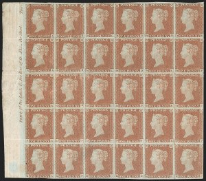 Sale Number 1198, Lot Number 3002, Line Engraved IssuesGREAT BRITAIN, 1847, 1p Red Brown (SG Specialised BS28; SG 8; Scott 3), GREAT BRITAIN, 1847, 1p Red Brown (SG Specialised BS28; SG 8; Scott 3)