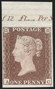 Sale Number 1198, Lot Number 3005, Line Engraved IssuesGREAT BRITAIN, 1849, 1p Red Brown, Imprimatur (SG Specialised BS31 var; SG 8 var; Scott 3 var), GREAT BRITAIN, 1849, 1p Red Brown, Imprimatur (SG Specialised BS31 var; SG 8 var; Scott 3 var)