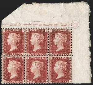 Sale Number 1198, Lot Number 3018, Line Engraved IssuesGREAT BRITAIN, 1864, 1p Lake Red (SG Specialised G1(2); SG 44; Scott 33b), GREAT BRITAIN, 1864, 1p Lake Red (SG Specialised G1(2); SG 44; Scott 33b)