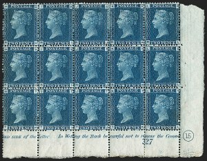 Sale Number 1198, Lot Number 3021, Line Engraved IssuesGREAT BRITAIN, 1869, 2p Deep Blue (SG Specialised G3(2); SG 47; Scott 30), GREAT BRITAIN, 1869, 2p Deep Blue (SG Specialised G3(2); SG 47; Scott 30)