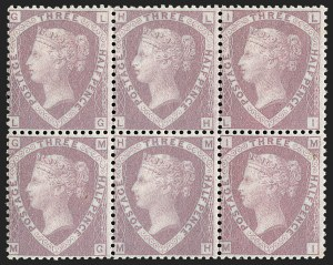 Sale Number 1198, Lot Number 3023, Line Engraved IssuesGREAT BRITAIN, 1860, 1-1/2p Rosy Mauve on Blued Paper, Prepared for Use but Unissued (SG Specialised G5; SG 53a; Scott 31), GREAT BRITAIN, 1860, 1-1/2p Rosy Mauve on Blued Paper, Prepared for Use but Unissued (SG Specialised G5; SG 53a; Scott 31)