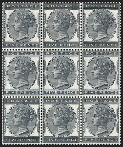 Sale Number 1198, Lot Number 3072, Surface Printed Issues, 1881 OnwardsGREAT BRITAIN, 1881, 5p Indigo (SG Specialised K6; SG 169; Scott 85), GREAT BRITAIN, 1881, 5p Indigo (SG Specialised K6; SG 169; Scott 85)