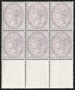 Sale Number 1198, Lot Number 3073, Surface Printed Issues, 1881 OnwardsGREAT BRITAIN, 1881, 1p Bluish Lilac, 14 Dots (SG Specialised K7(2); SG 170 var; Scott 88 var), GREAT BRITAIN, 1881, 1p Bluish Lilac, 14 Dots (SG Specialised K7(2); SG 170 var; Scott 88 var)