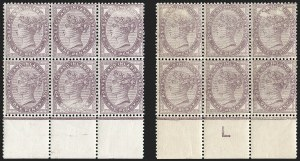 Sale Number 1198, Lot Number 3074, Surface Printed Issues, 1881 OnwardsGREAT BRITAIN, 1881, 1p Lilac, 16 Dots, Printed Both Sides, Watermark Inverted (SG Specialised K8(1)ha; SG 173a; Scott 89a), GREAT BRITAIN, 1881, 1p Lilac, 16 Dots, Printed Both Sides, Watermark Inverted (SG Specialised K8(1)ha; SG 173a; Scott 89a)