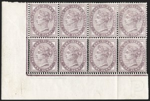 Sale Number 1198, Lot Number 3075, Surface Printed Issues, 1881 OnwardsGREAT BRITAIN, 1881, 1p Lilac, 16 Dots, Double Perforation (SG Specialised K8(1)p; SG 172 var; Scott 89 var), GREAT BRITAIN, 1881, 1p Lilac, 16 Dots, Double Perforation (SG Specialised K8(1)p; SG 172 var; Scott 89 var)