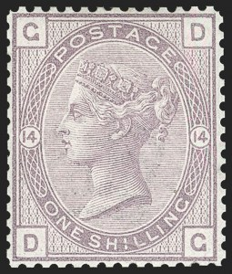 Sale Number 1198, Lot Number 3077, Surface Printed Issues, 1881 OnwardsGREAT BRITAIN, 1882, 1sh Purple, Line Perf 14, Intended for Surcharge and Unissued (SG Specialised K8C; SG 163 Footnote; Scott 87 Footnote), GREAT BRITAIN, 1882, 1sh Purple, Line Perf 14, Intended for Surcharge and Unissued (SG Specialised K8C; SG 163 Footnote; Scott 87 Footnote)
