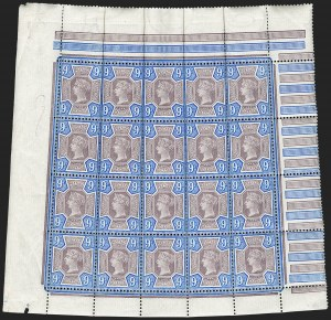 Sale Number 1198, Lot Number 3093, Jubilee IssueGREAT BRITAIN, 1887, 9p Dull Purple & Blue (SG Specialised K38(1); SG 209; Scott 120), GREAT BRITAIN, 1887, 9p Dull Purple & Blue (SG Specialised K38(1); SG 209; Scott 120)