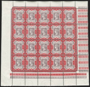 Sale Number 1198, Lot Number 3094, Jubilee IssueGREAT BRITAIN, 1890, 10p Dull Purple & Carmine (SG Specialised K39(1); SG 210; Scott 121), GREAT BRITAIN, 1890, 10p Dull Purple & Carmine (SG Specialised K39(1); SG 210; Scott 121)